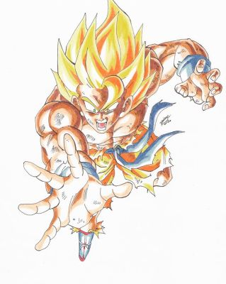 SON GOKU- SUPER SAYAN- SAGA FRIEZA by TriiGuN