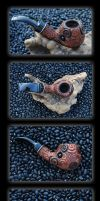 Pathways Of Fire Tobacco Pipe by DreamingDragonDesign