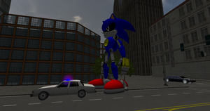Giant Metal Sonic Attak the City 1 by SUPREMOXQ15