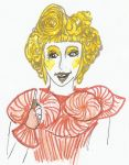 Effie in red and gold by TypicalWatson