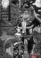 Gothic Beauty and the Beast by DeidaraEmoArtist