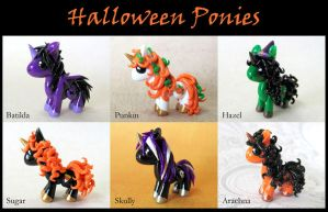 Halloween Ponies by DragonsAndBeasties