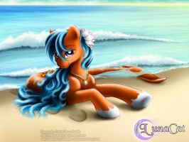 Merpony on the beach by FlyingPony