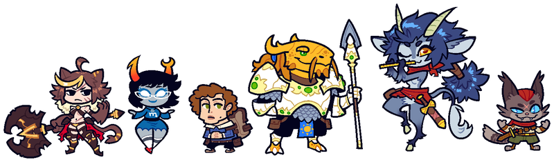 COMMISSION: DnD Group 2 by Cubesona
