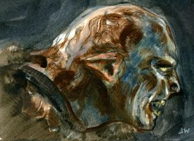 Orc from Lord of the Rings Sketch Card ACEO by Stungeon