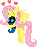 Fluttershy Hugging a Squirt by supermatt314