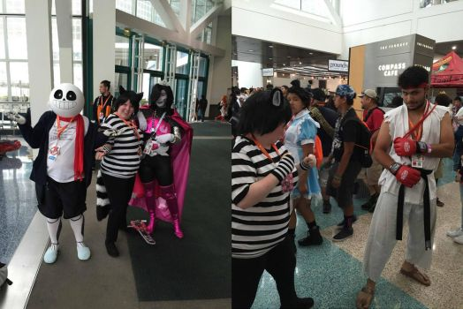 Chesh with Other Cosplayers at Anime Expo 16 pt 3 by Black--Cheshire