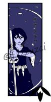 Rukia bookmark by Lizzuzci