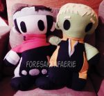 Pillow Plush - Billy and Teddy by ForesakenFaerie