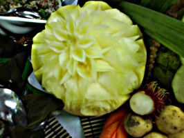 carving on melon by Baronly
