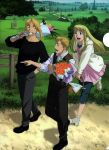 Ed,Al and winry visiting their family graves. by Rosemaryeve555