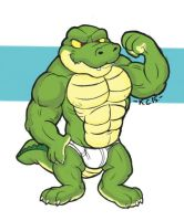 Muscle croc by Krunchycroc