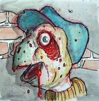 Tippy the turtle gone zombie by BYRONvonREMPEL