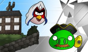 Angry Birds x Assassin's Creed by Scottie-theNerd