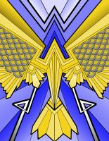 Art Deco Bird by CJJennings
