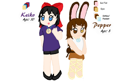 Keiko n' Pepper by TwinBlossoms