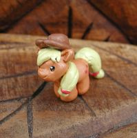 Mini Applejack Sculpture by LeiliaK