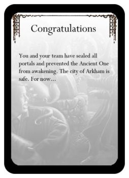 Arkham Horror - Congrats! by WeebleClock