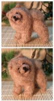 Needle felted chow chow by Nonna-sl