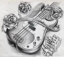 My Guitar Drawing by broarmyfangirl