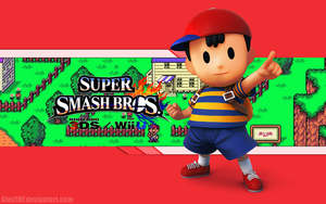 Ness Wallpaper - Super Smash Bros. WiiU/3DS by AlexTHF