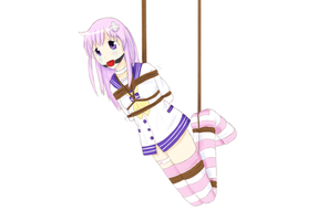 Nepgear Suspended up by imoutoid