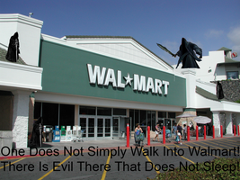 THERE'S EVIL AT WALMART by Cleafesphere