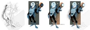 Mr Freeze befo n afta by cheeks-74