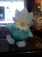 Ice Kirby papercraft by Deadlycreations