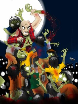 Zazquash vs los Choops Zombies by Bonillarama