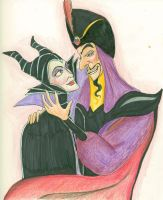 Disney's Jafar x Maleficent by flashatasha