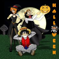 One Piece Halloween by ZombieGirl01