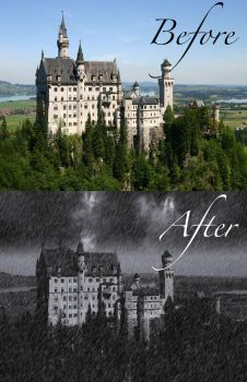Castle photoshop before and after by sugnaO