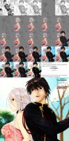 step by step progress moka and tsukune by brownman06