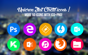Circle Icon Pack (+50 Icons with ICO+PNG! ) by AyoKazuya