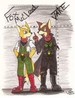 Fox and Jake by StarFox-Saiyan
