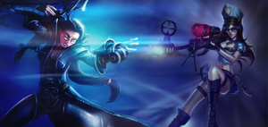 Vayne and Caitlyn by FireSorc