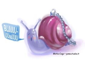 Snail Gadget key holder by michan