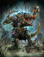 The Hordes Domination: Gatorman Witch Doctor by Mikeypetrov