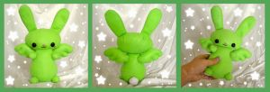Commission: Flying Mint Bunny by ChibiWorks