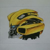 Bumblebee Transformers Side View by SkyChow