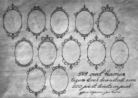 549 Oval Frames by Tigers-stock