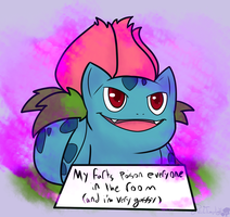 Pokeshaming: Ivysaur by CherryRedImp