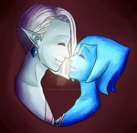 Mutual Nose Boop Collab by Astralstonekeeper