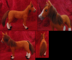 Felted Quarter Horse Custom by DancingVulture