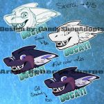 Head shot badges: OPEN by Sharpe19