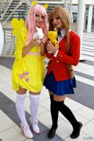 Fluttershy and Taiga by Saru-Cosplay