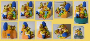 The Simpsons: Crayola Foam Clay Sculpture by tayba