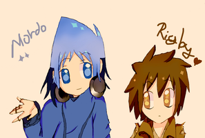 mordo and rigby. by DaiuH