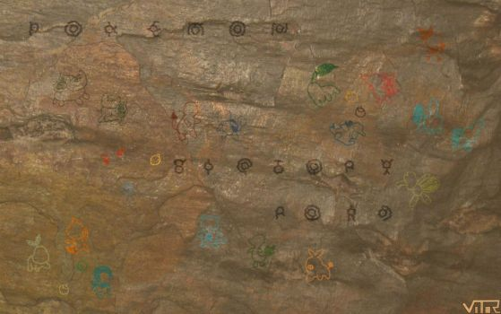 Pokemon Cave Painting by Pinta